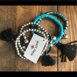 NWT! CrAzY TrAiN Beaded Stackable Bracelet! 🎁